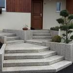 escalier granit jaune di luca paysagiste