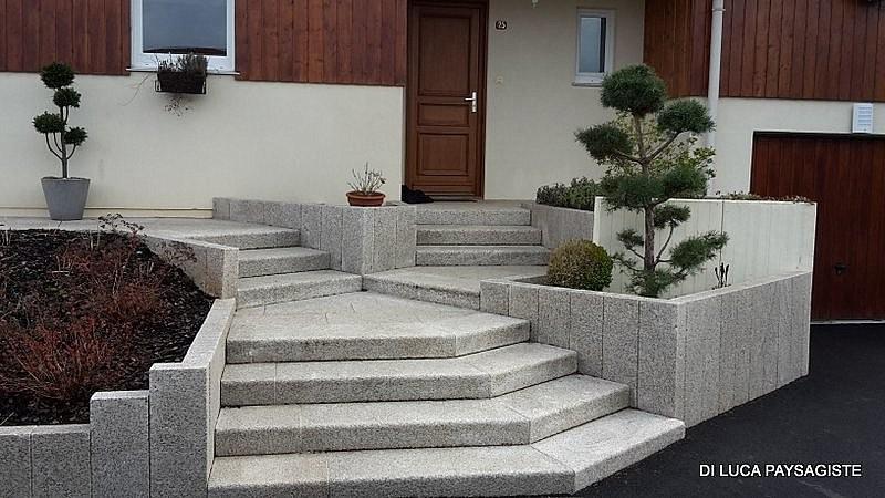 Escalier r alisations di luca paysagiste belfort for Paysagiste amenagement exterieur