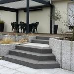 escalier granit noir di luca paysagiste